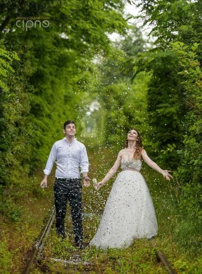 Mihai & Alexandra - Trash-The-Dress - 16 iunie 2014, Tunelul Iubirii, Caraș-Severin