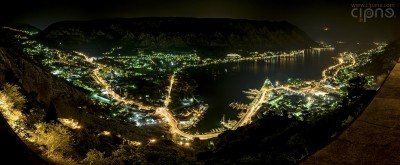 Eagle View - Town of Kotor by night