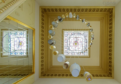 Stairway to ceiling