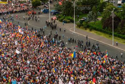 10 august 2018 - București, Piața Victoriei, ora 20:25