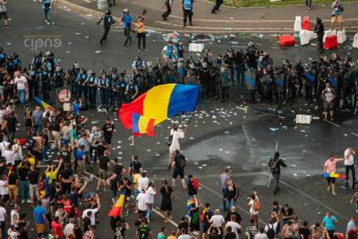 10 august 2018 - București, Piața Victoriei, ora 20:31