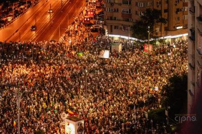 10 august 2018 - București, Piața Victoriei, ora 21:05