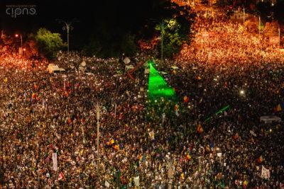 10 august 2018 - București, Piața Victoriei, ora 21:09