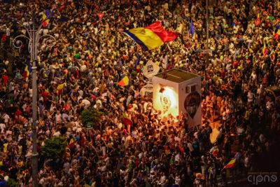 10 august 2018 - București, Piața Victoriei, ora 21:12