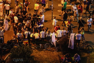 10 august 2018 - București, Piața Victoriei, ora 21:43