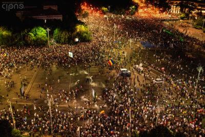 10 august 2018 - București, Piața Victoriei, ora 21:45