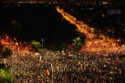 10 august 2018 - București, Piața Victoriei, ora 21:56