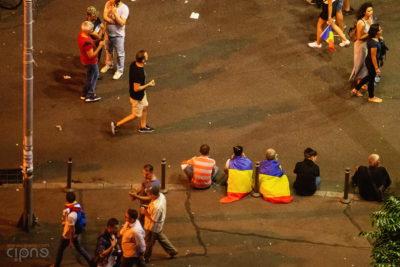 10 august 2018 - București, Piața Victoriei, ora 22:40