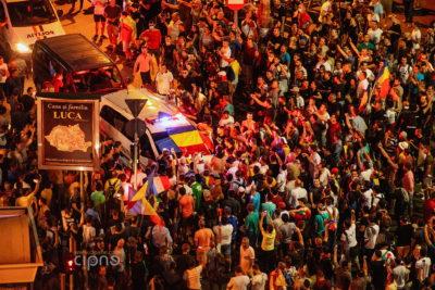 10 august 2018 - București, Piața Victoriei, ora 23:04