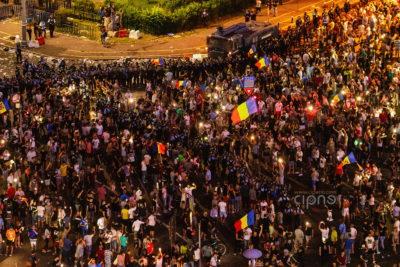 10 august 2018 - București, Piața Victoriei, ora 23:07