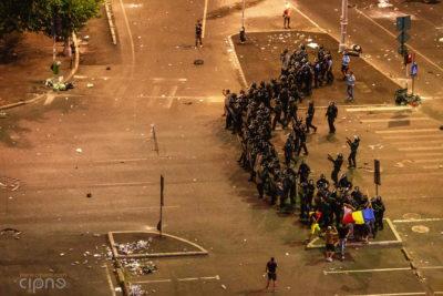 10 august 2018 - București, Piața Victoriei, ora 23:23