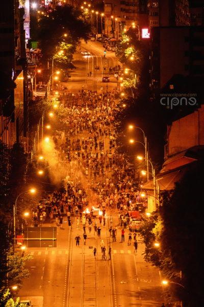 10 august 2018 - București, Piața Victoriei, ora 23:54