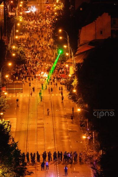 10 august 2018 - București, Piața Victoriei, ora 23:56