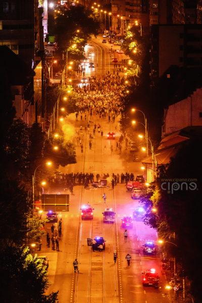11 august 2018 - București, Piața Victoriei, ora 00:24