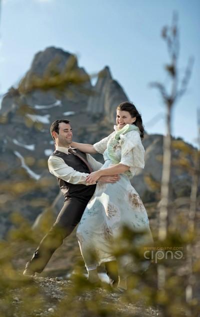 Vlad & Cristina - Ședința foto - 23 martie 2014 - Munții Ciucaș
