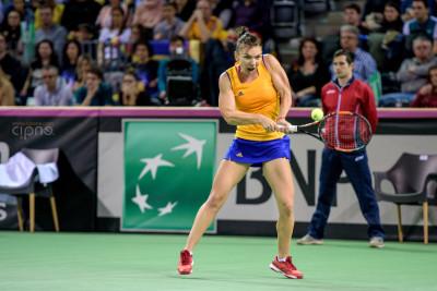 FedCup - România-Cehia - Simona Halep vs. Karolina Pliskova - 6 februarie 2016 - Sala Polivalentă, Cluj-Napoca