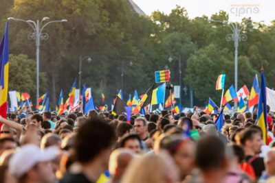 10 august 2018 - București, Piața Victoriei, ora 19:49