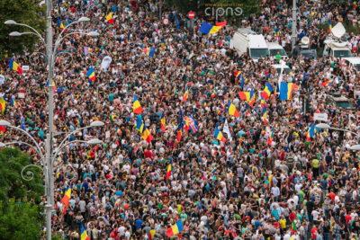 10 august 2018 - București, Piața Victoriei, ora 20:21