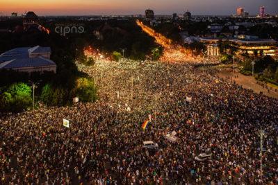 10 august 2018 - București, Piața Victoriei, ora 20:59