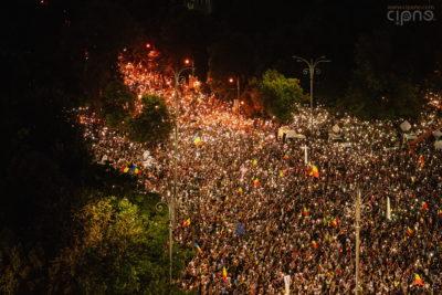 10 august 2018 - București, Piața Victoriei, ora 21:04