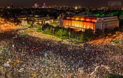 10 august 2018 - București, Piața Victoriei, ora 21:20