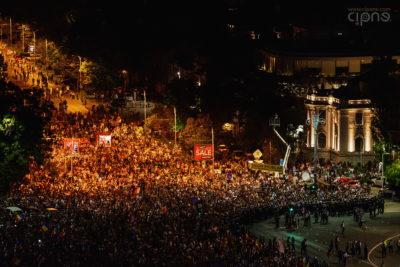 10 august 2018 - București, Piața Victoriei, ora 21:37