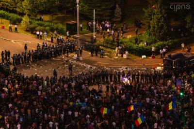 10 august 2018 - București, Piața Victoriei, ora 22:09