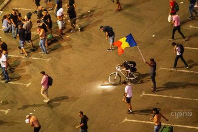 10 august 2018 - București, Piața Victoriei, ora 22:33