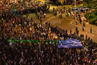 10 august 2018 - București, Piața Victoriei, ora 22:35