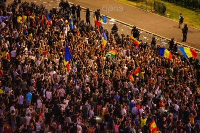 10 august 2018 - București, Piața Victoriei, ora 23:05