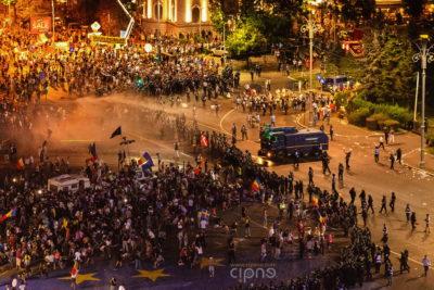10 august 2018 - București, Piața Victoriei, ora 23:12