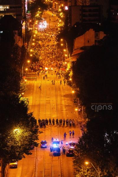10 august 2018 - București, Piața Victoriei, ora 23:53